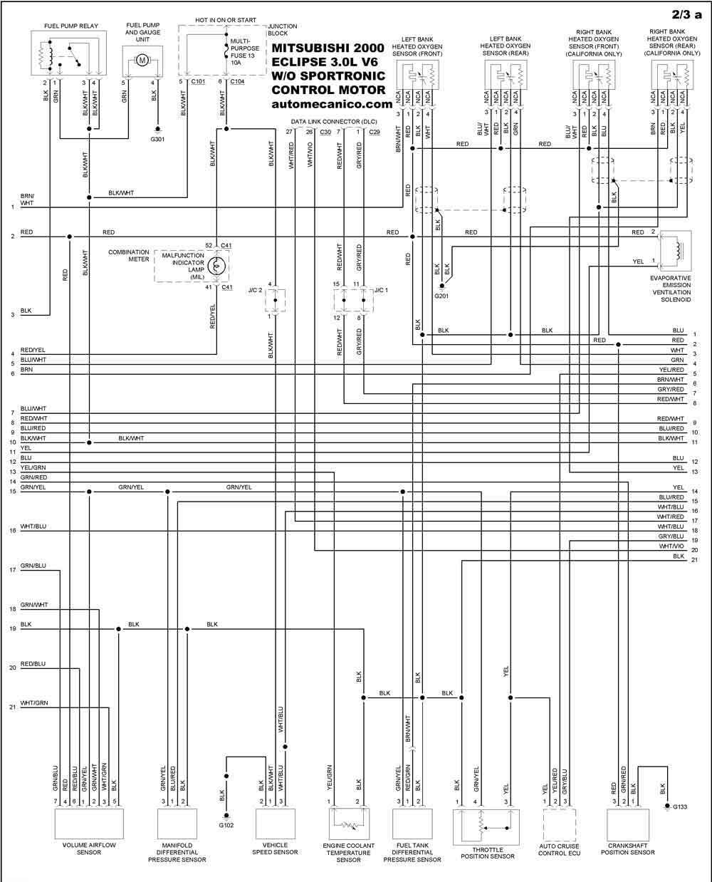 mitsubishi 2000 - diagramas control del motor - graphics - esquemas