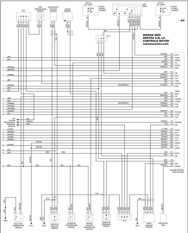 nissan 2000 - diagramas control del motor