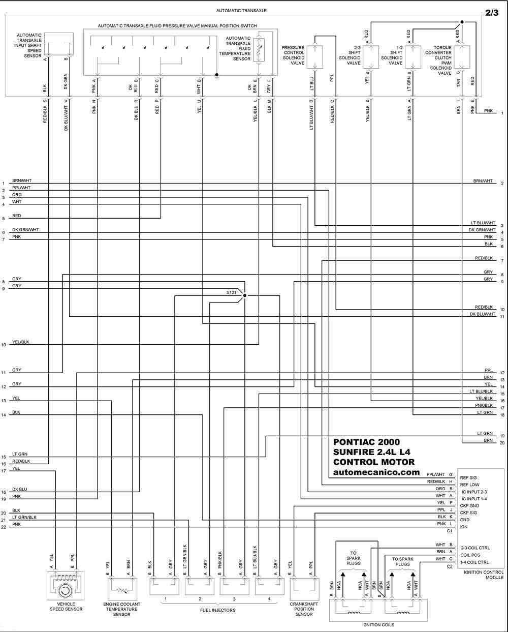 pontiac 2000 - diagramas control del motor