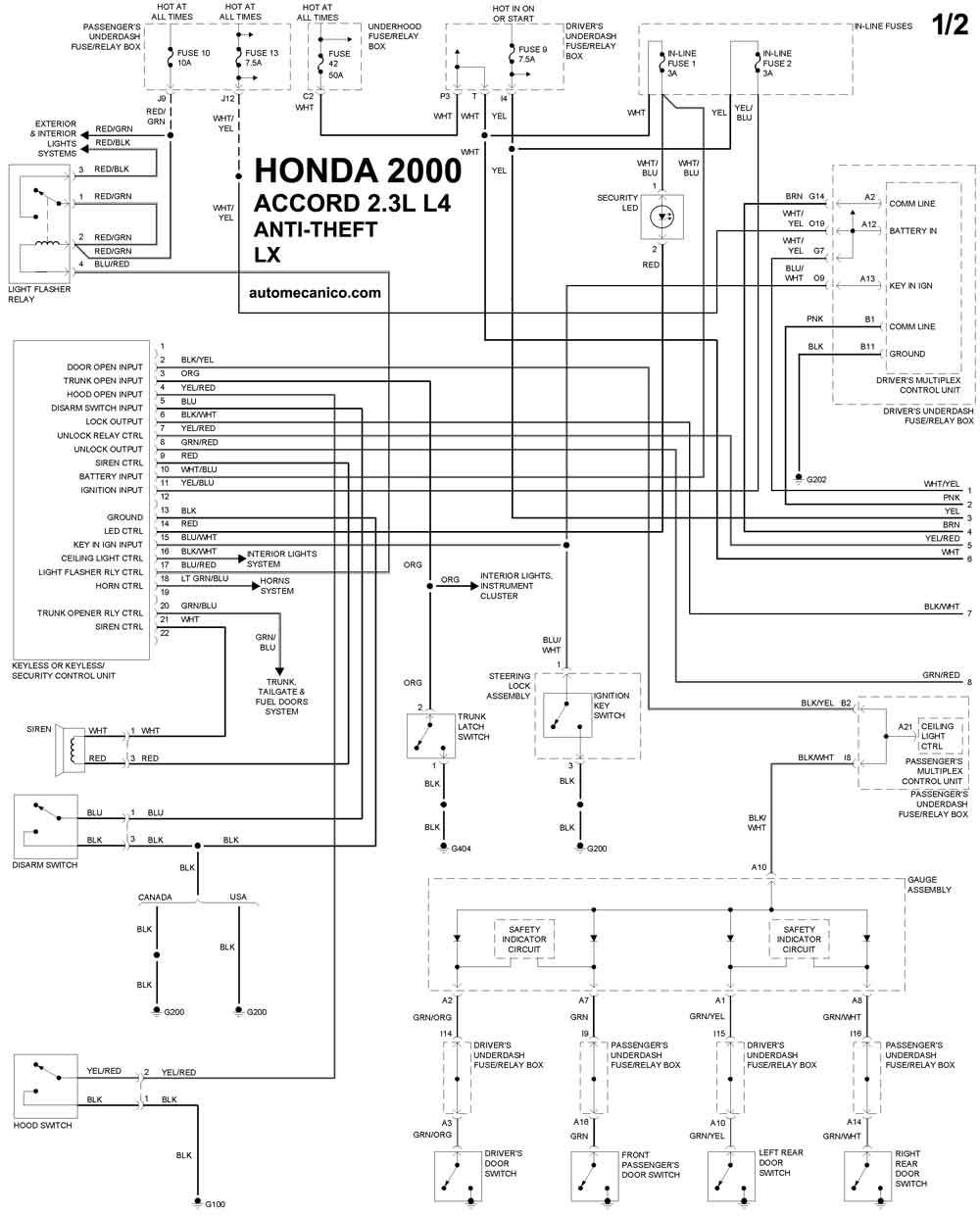 2009 civic anti theft wiring diagram. 98 taurus 3 0 dohc wont crank new  battery neutral safety. honda sistema antirobo anti theft system braking.  acura vigor 1992 wiring diagrams security anti theft.  2002-acura-tl-radio.info